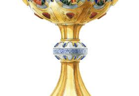 Кубок с эмалями